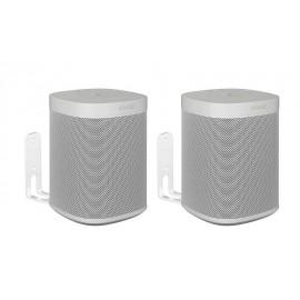 Vebos supporto a muro Sonos One bianco doppio