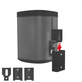 Vebos portable supporto a muro Sonos Play 1 nero