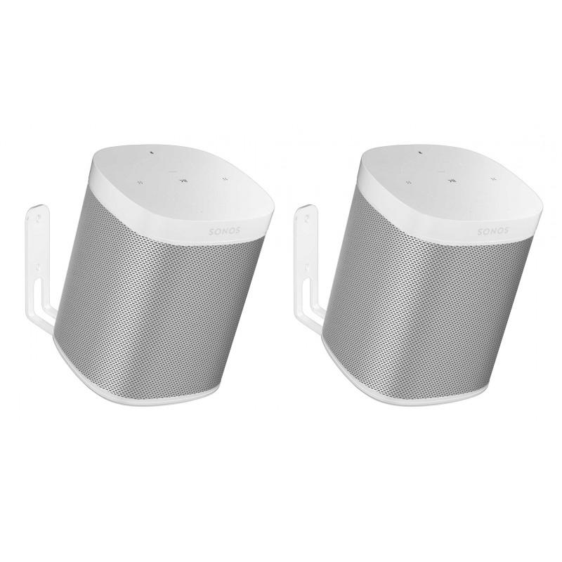 Vebos supporto a muro Sonos One bianco 20 grad doppio