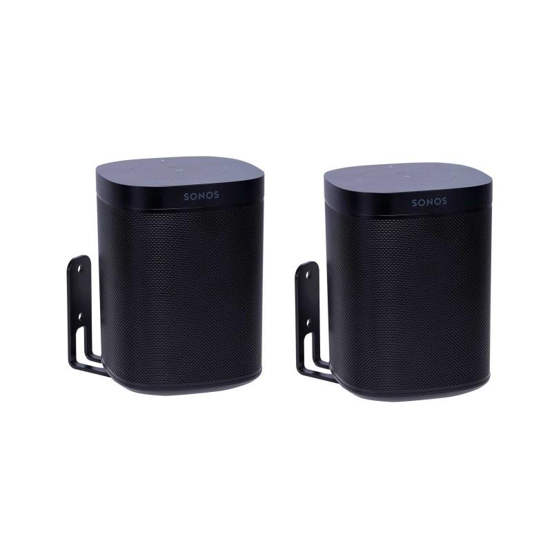 Vebos supporto a muro Sonos One nero doppio
