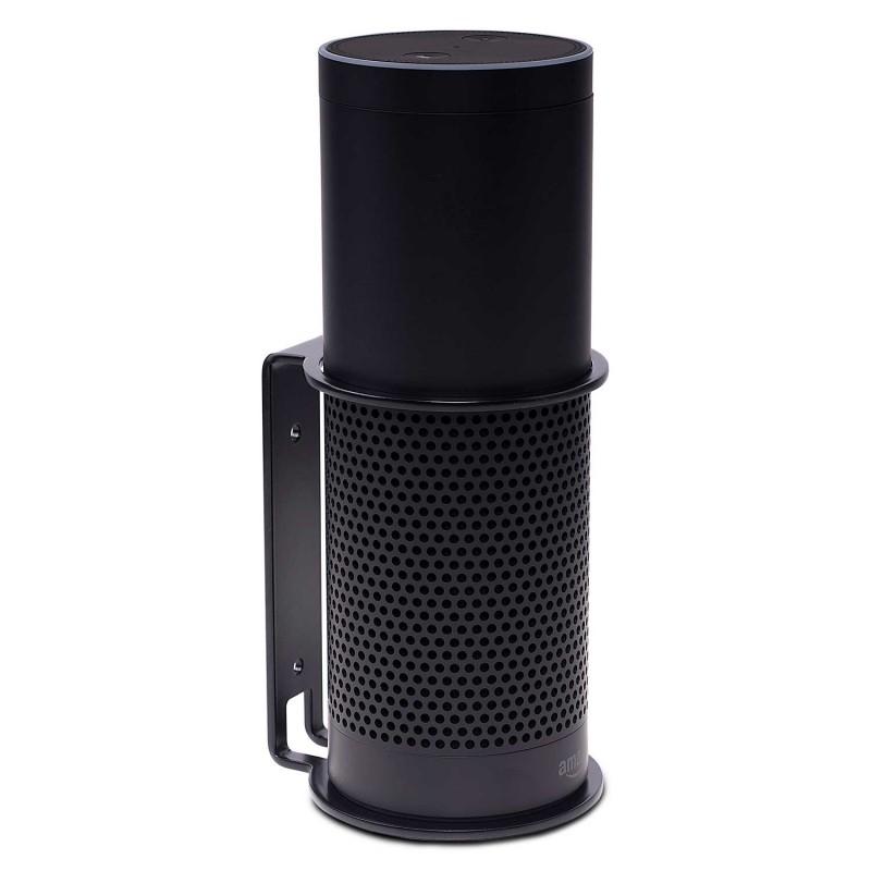 Vebos supporto a muro Amazon Echo Plus nero