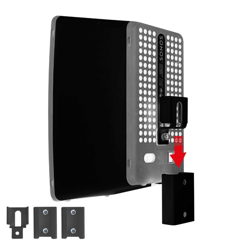 Vebos portable supporto a muro Sonos Play 3 nero